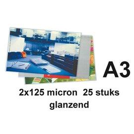 GBC Pochette de plastification GBC A3 2x125microns 25 pièces