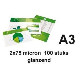 GBC Pochette de plastification GBC A3 2x75microns 100 pièces