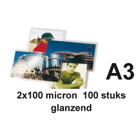 GBC Lamineerhoes GBC A3 2x100micron 100stuks