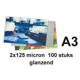 GBC Pochette de plastification GBC A3 2x125microns 100 pièces