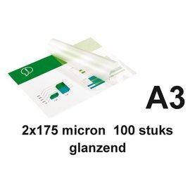 GBC Pochette de plastification GBC A3 2x175microns 100 pièces