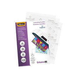 Fellowes Pochette de plastification Fellowes A4 2x80mic 100pces