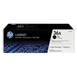 HP Cartouche toner HP CB436AD 36A noir 2x