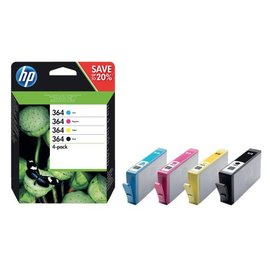 HP Cartouche dencre HP 364 N9J73AE noir+3 couleurs