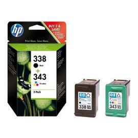 HP Cartouche dencre HP SD449EE 338+343 noir + couleur