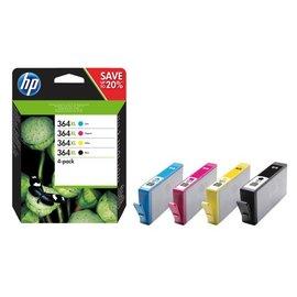 HP Inkcartridge HP 364xl n9j74ae zwart + 3 kleuren hc