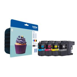 Brother Inkcartridge Brother lc-123valbp zwart + 3 kleuren