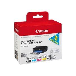 Canon Cartouche dencre Canon PGI-550 CLI-551 noir+couleur