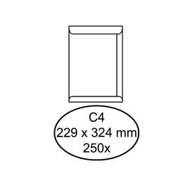 Hermes Envelop Hermes akte c4 229x324mm wit 250stuks