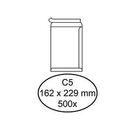 Quantore Enveloppe Quantore C5 162x229mm autocollant blanc 500pcs