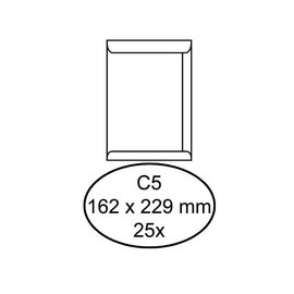 Hermes Envelop Hermes akte c5 162x229mm zelfklevend wit 25stuks