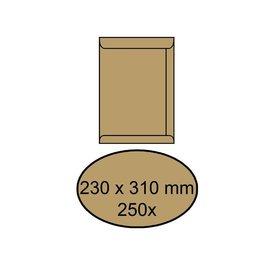 Office Enveloppe 230x310mm autocollant 90g brun 250 pièces