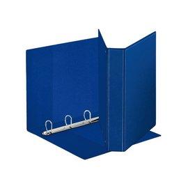 Esselte Classeur panorama à 4 anneaux Esselte Luxe A4-20mm bleu