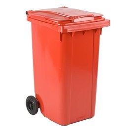Vepa Bins Conteneur mobile en plastique 240 L rouge VB240000