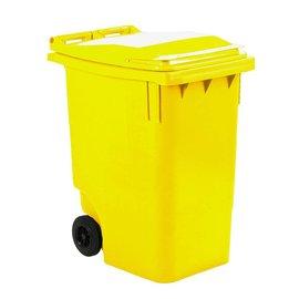 Vepa Bins Conteneur mobile en plastique 360 L jaune VB360000