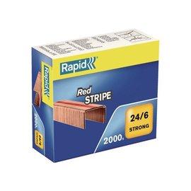 Rapid Agrafes Rapid 24/6 Redstripe cuivré 2000 pcs