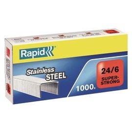 Rapid Agrafes Rapid 24/6 acier inox super strong 1000 pcs