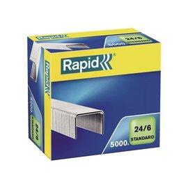 Rapid Nieten Rapid 24/6 gegalvaniseerd standaard 5000 stuks
