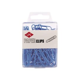 Papierklem LPC Trombone LPC 28mm 100 pièces bleu