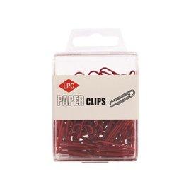 Papierklem LPC Paperclip lpc 28mm 100stuks rood