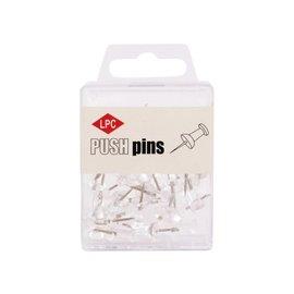 Papierklem LPC Push pins PLC 40 pièces transparent