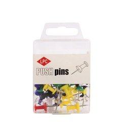 Papierklem LPC Push pins lpc 40stuks assorti