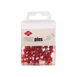 Papierklem LPC Push pins lpc 40stuks rood