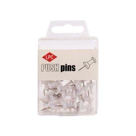 Papierklem LPC Push pins LPC 40 pièces blanc
