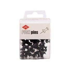 Papierklem LPC Push pins PLC 40 pièces noir