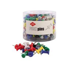 Papierklem LPC Push pins PLC 200 pièces assorti