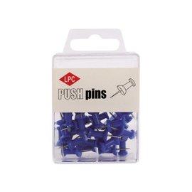 Papierklem LPC Push pins lpc 40stuks blauw