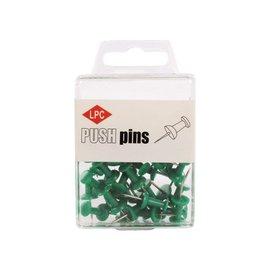 Papierklem LPC Push pins PLC 40 pièces vert