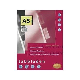 Multo Tabbladen Multo A5 17-gaats 7310700 5-delig ass karton 180gr