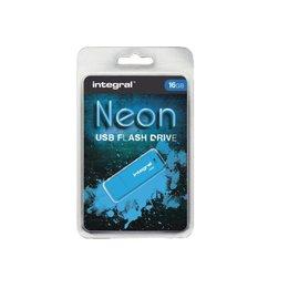 Integral Clé USB 2.0 Integral 16Go néon bleu