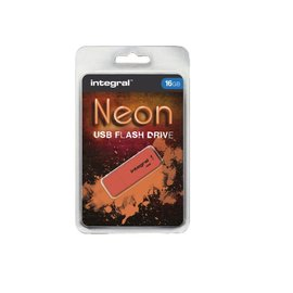 Integral Clé USB 2.0 Integral 16Go néon orange