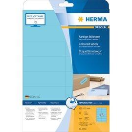 Herma Herma 4553 Étiquettes couleur, A4, 105 x 37 mm, bleues, amovibles