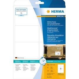 Herma Étiquettes d'expédition résistantes aux intempéries, A4, 99,1 x 67,7 mm, blanches, ultra-adhérentes