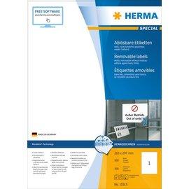 Herma Étiquettes amovibles, A4, 210 x 297 mm, blanches, technologie Movables® 100 pcs