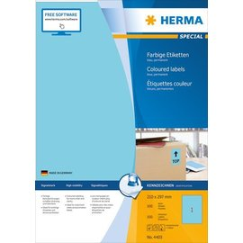 Herma Herma 4403 etiketten blauw 210x297 A4 100 st.