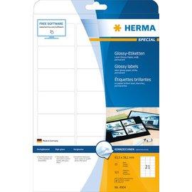 Herma Étiquettes surglacées, A4, 63,5 x 38,1 mm, blanches, adhérence permanente