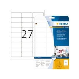 Herma Etiquette Herma amovible 4347 63,5x29,6mm blanc 675 pièces