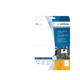 Herma Etiquette film Herma 9535 210x297mm A4 blanc 20 pièces