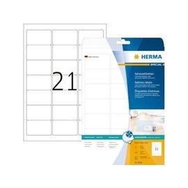 Herma Etiket Herma 8838 63.5x38.1mm mat wit 525stuks