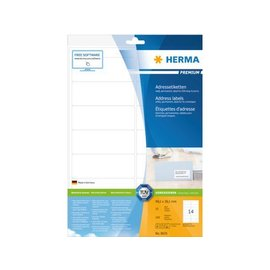 Herma Etiket Herma 8635 99.1x38.1mm premium wit 140stuks