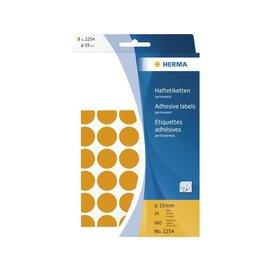 Herma Etiket Herma 2254 rond 19mm fluor oranje 960stuks