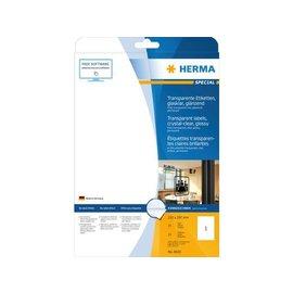 Herma Etiket Herma 8020 transparant A4 210x297mm 25st