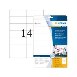 Herma Etiquette Herma amovible 5081 105x42,3mm blanc 350 pièces