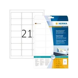 Herma Etiket Herma 5074 63.5x38.1mm verwijderbaar wit 525stuks