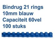 Reliures plastique - 10 mm - 60 feuilles