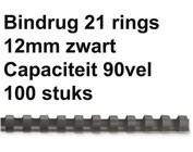 Reliures plastique - 12 mm - 90 feuilles